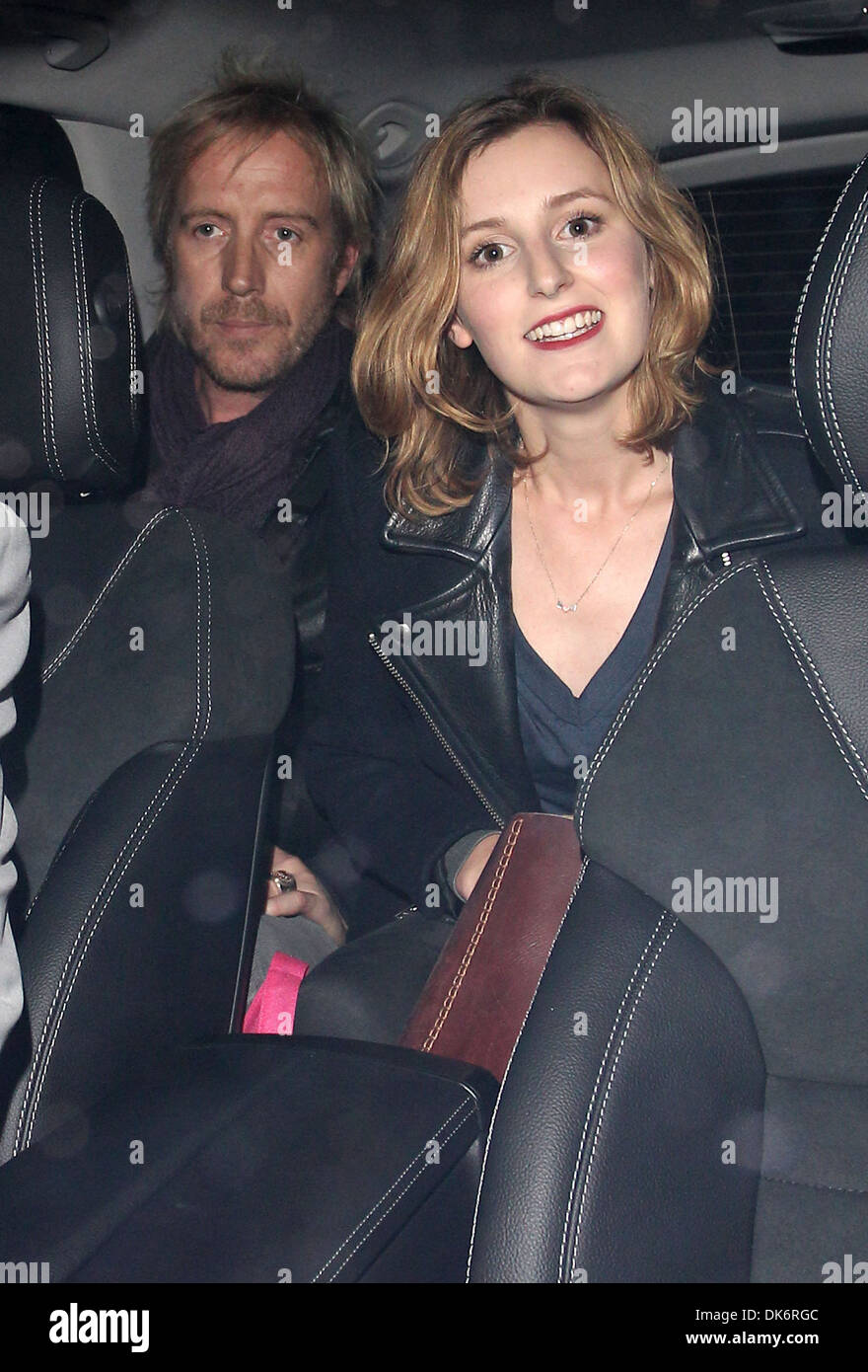 Rhys Ifans and Laura Carmichael at Sketch nightclub London, England - 26.09.12 - Stock Image