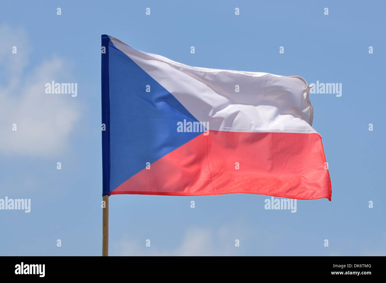 Flag of Czech Republic - Stock Image