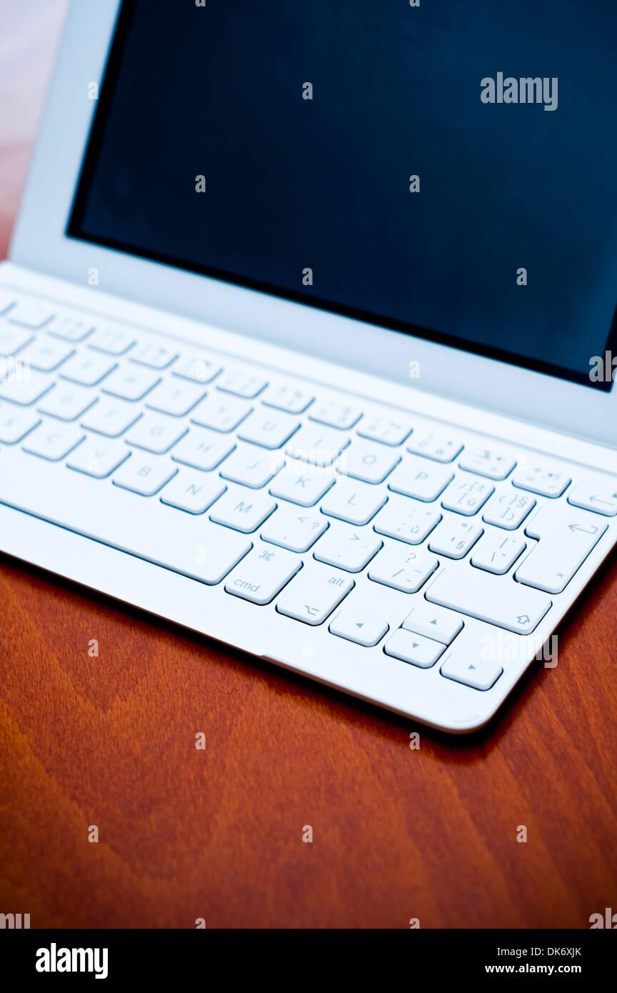 iPad with external keyboard - Stock Image