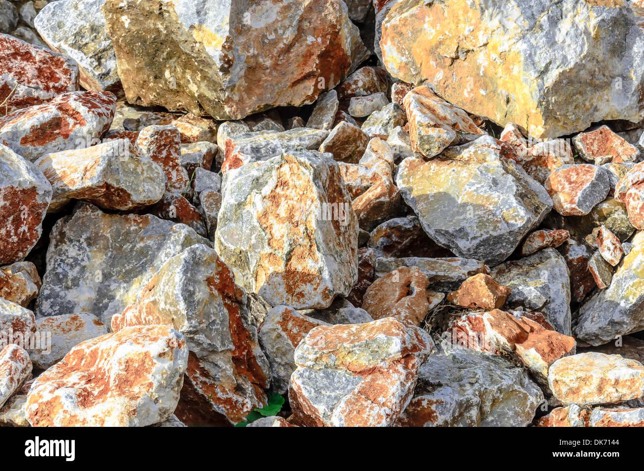 rough stone background - Stock Image