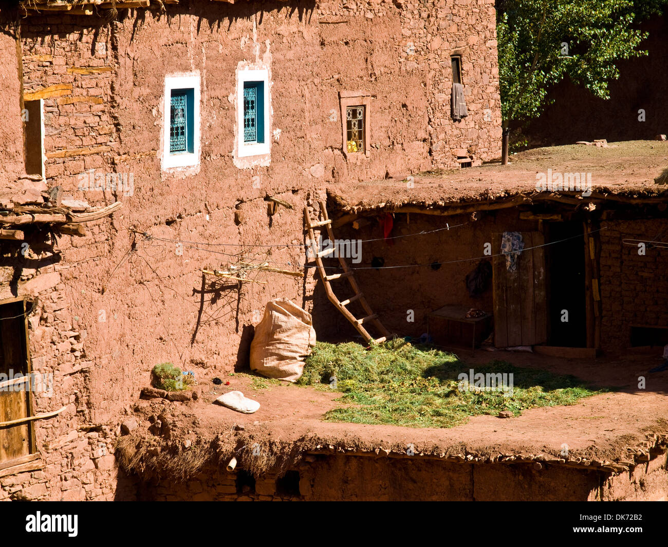 Berber architecture on the village of Megdaz often called the most beautiful village in the Moroccan Atlas Stock Photo