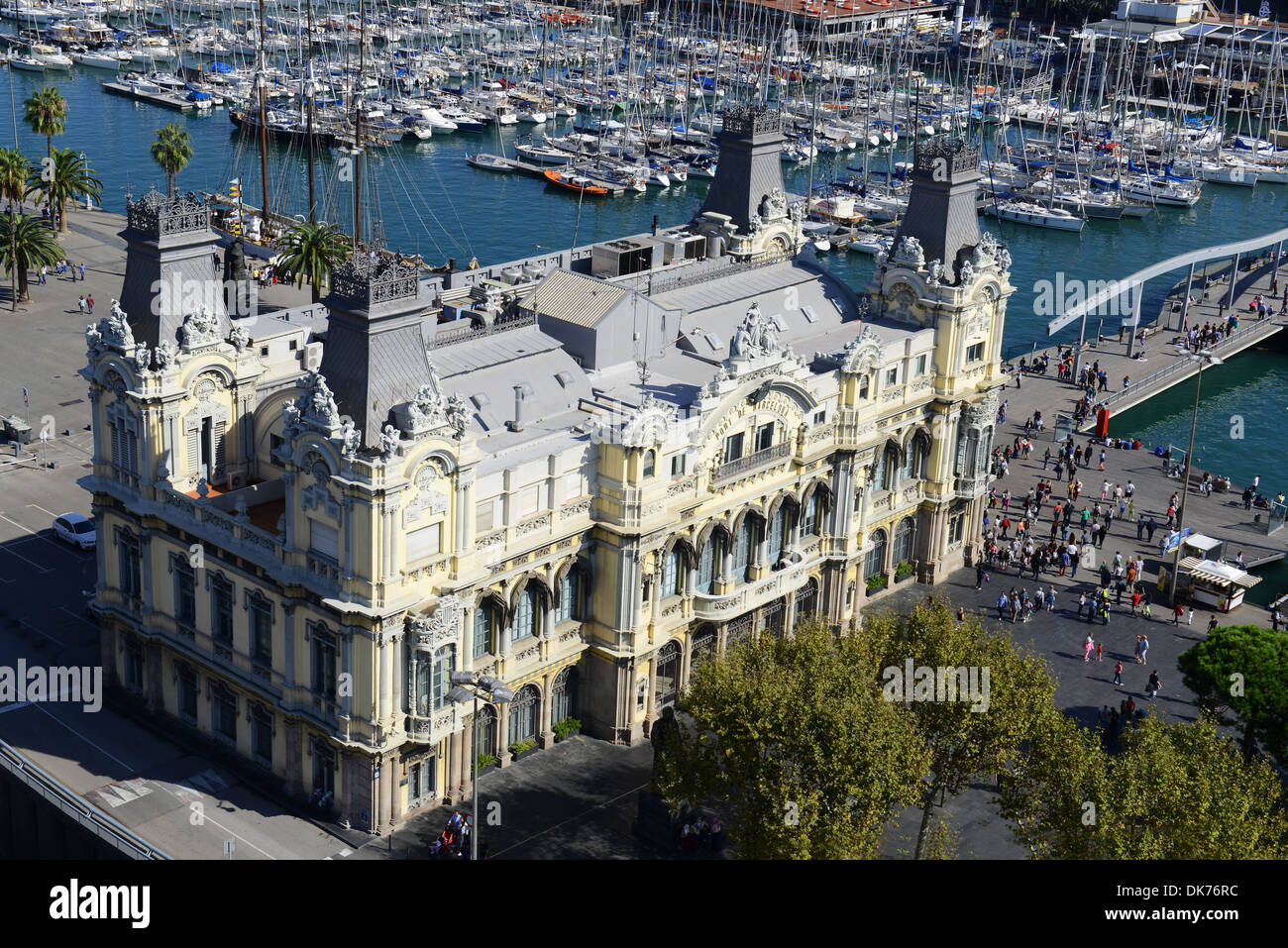 Old Port Authority building exterior, Barcelona, Spain - Stock Image