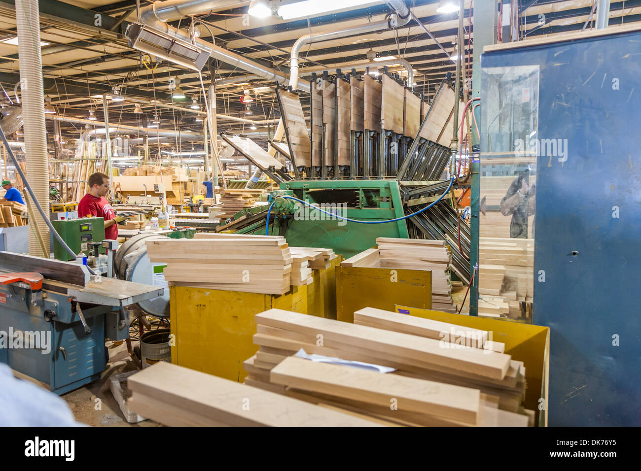 Cabinet Shop At Tiffin Motorhomes Factory In Red Bay, Alabama, USA