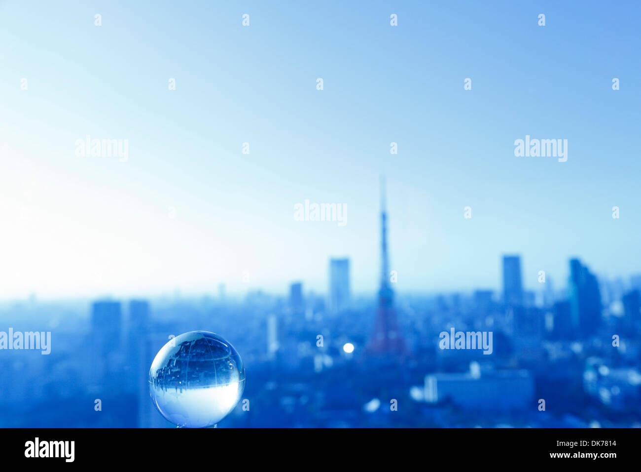 Glass earth globe - Stock Image