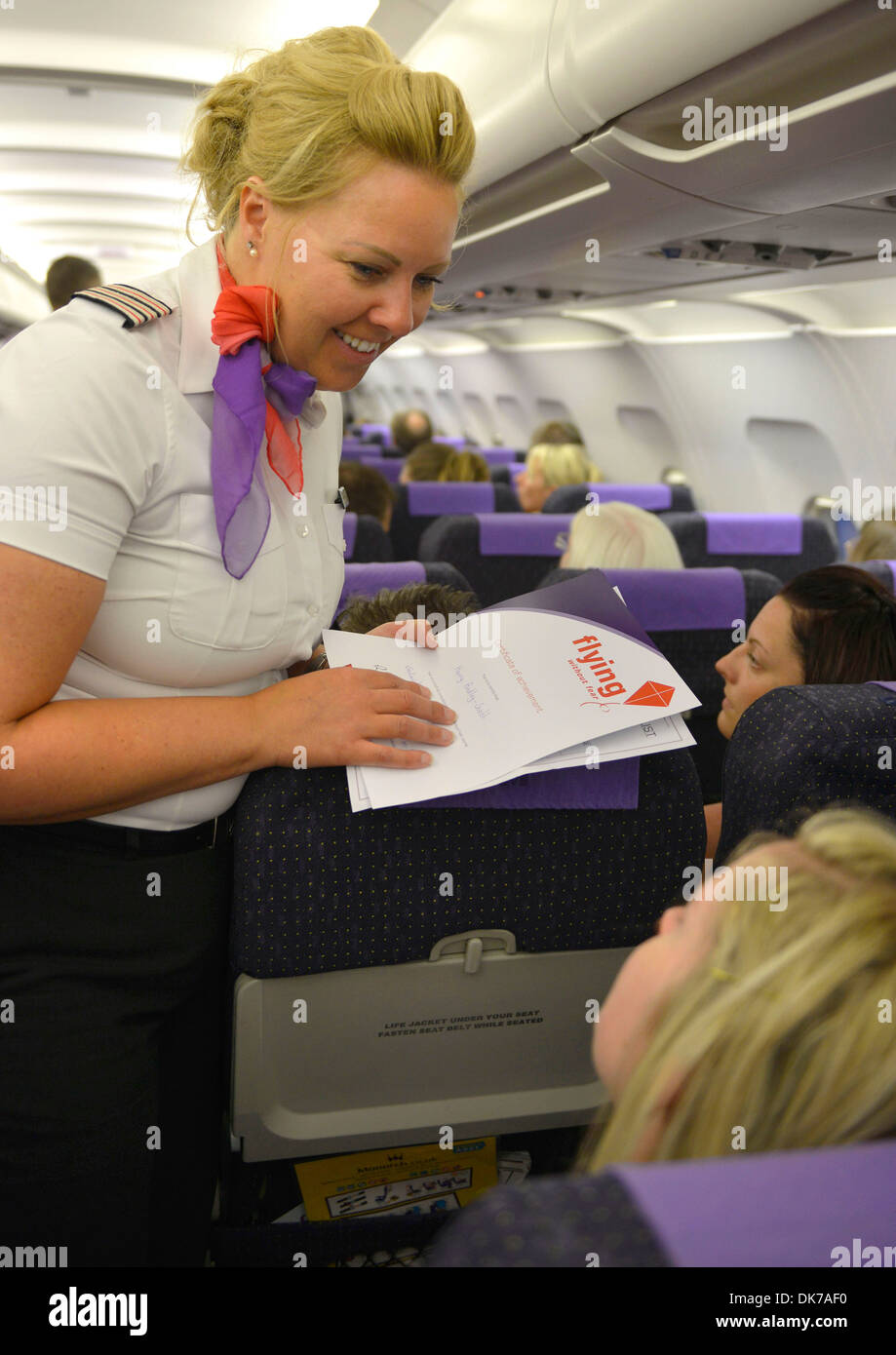 Virgin Airline Flying Without Fear course - Stock Image