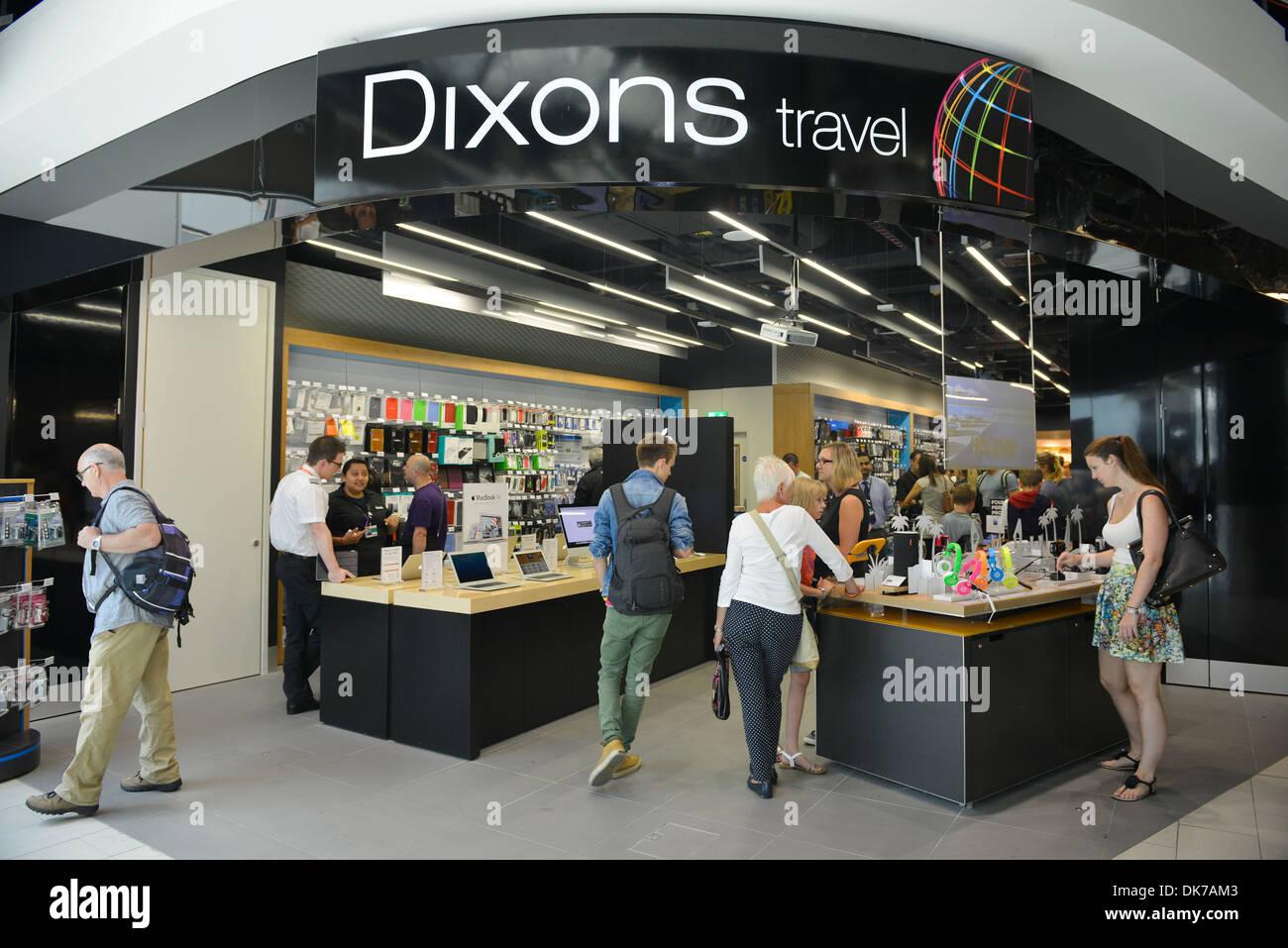 Dixons Travel shop at Gatwick Airport, Britain, UK Stock