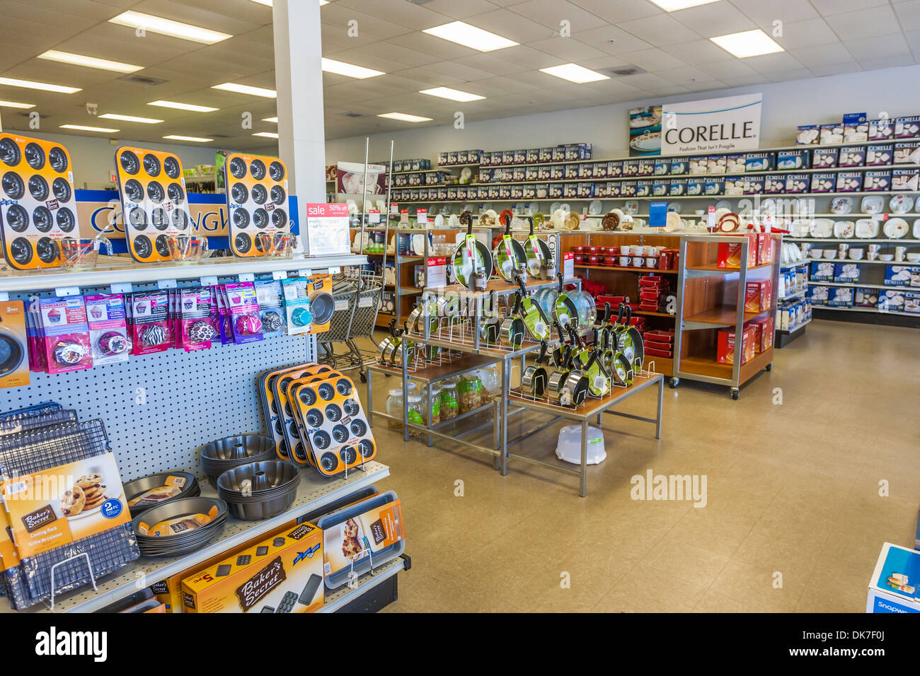 Interior Of Retail Kitchen Outlet Store   Stock Image