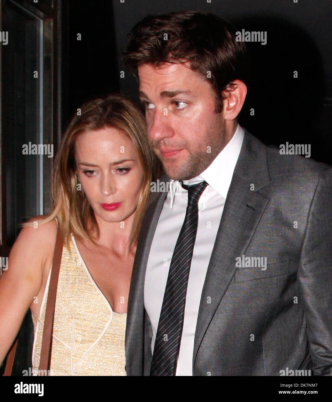 John Krasinski Emily Blunt Wedding.John Krasinski And Emily Blunt Attend Stanley Tucci And