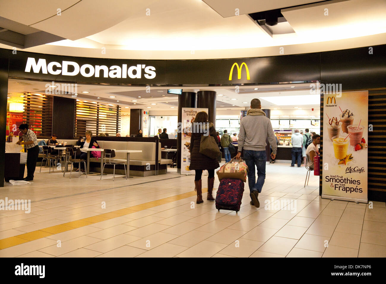 McDonalds restaurant at the South terminal Gatwick airport, UK - Stock Image