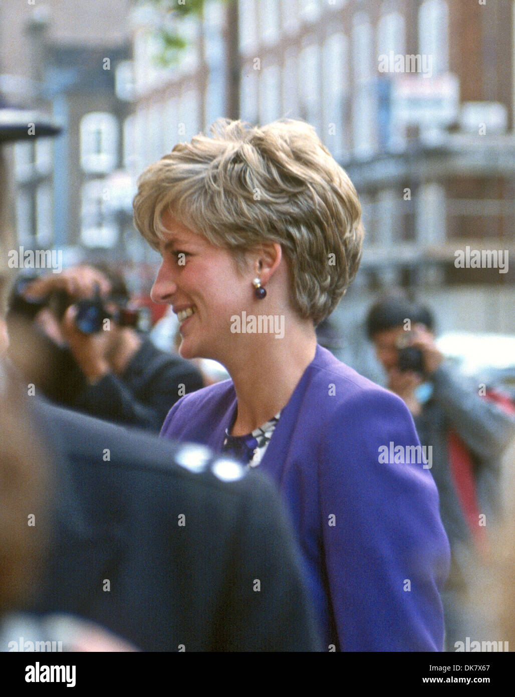 UK Princess Diana visits the arts Council, Westminster London - Stock Image