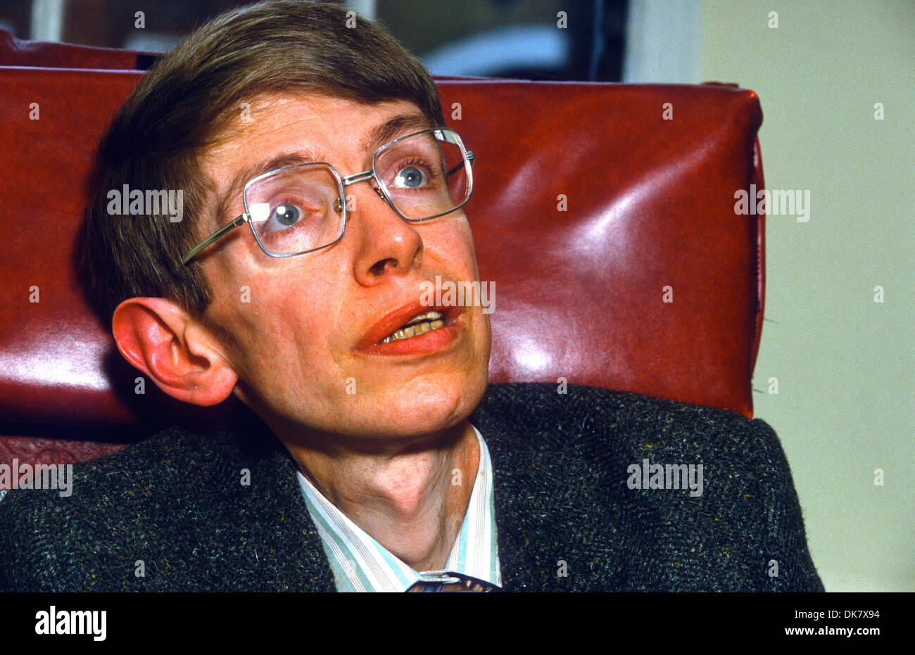 Stephen William Hawking CH CBE FRS FRSA is an English theoretical physicist, cosmologist and author. - Stock Image