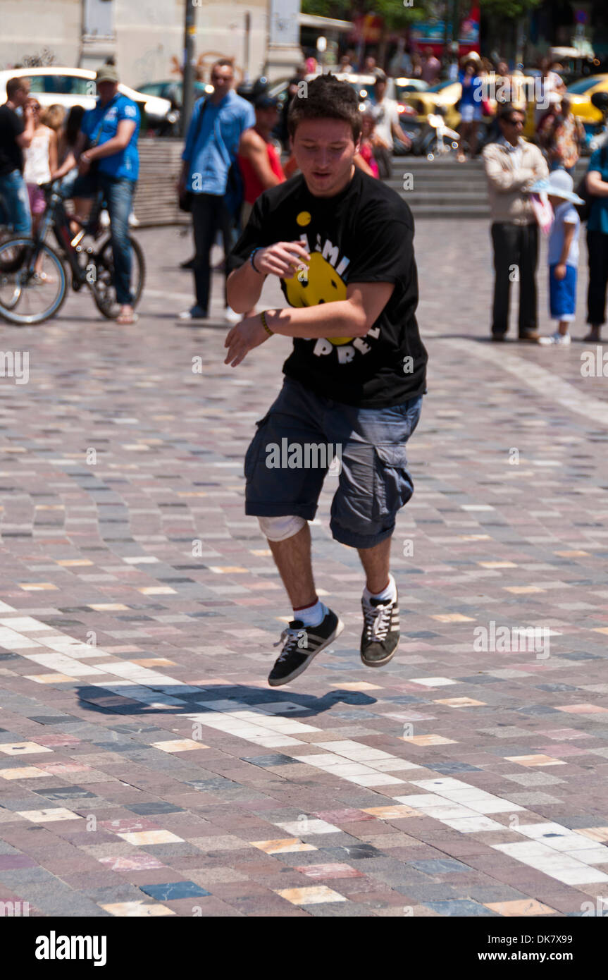 Street entertainers in Athens - Stock Image