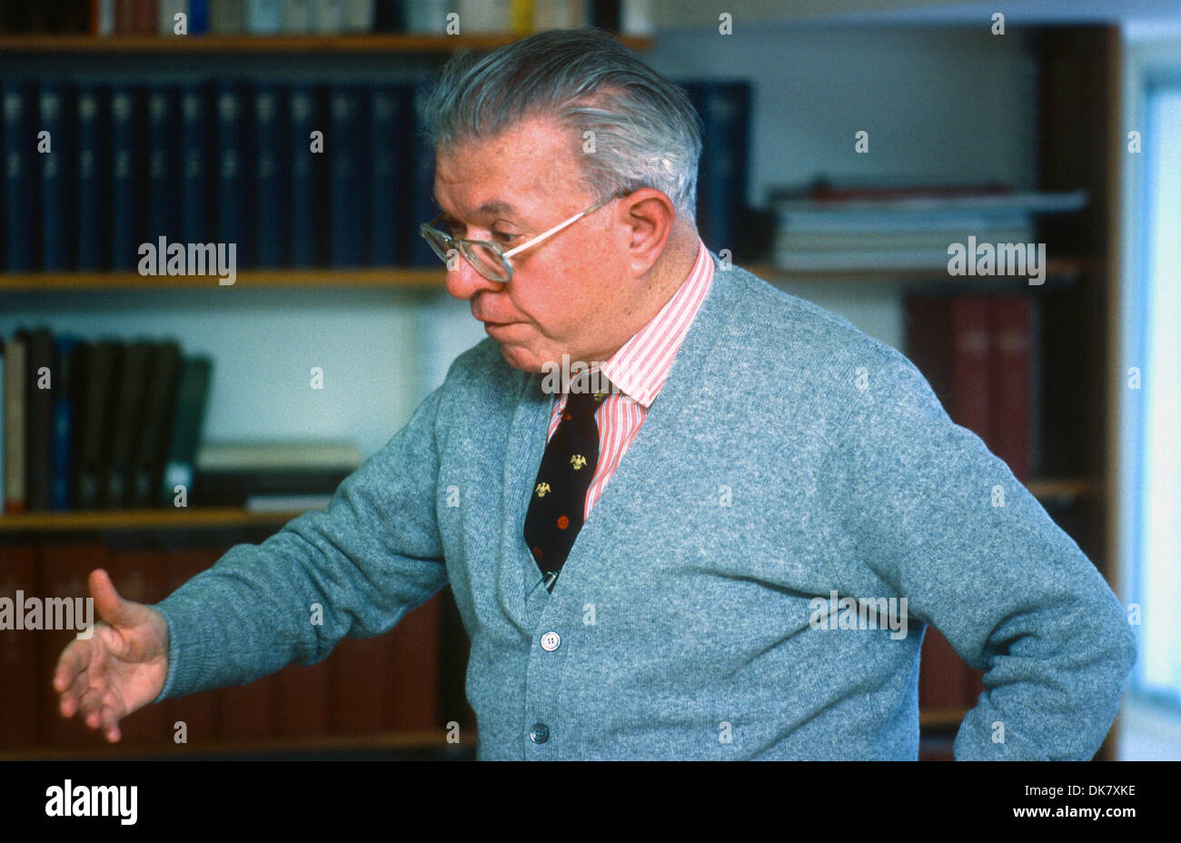 Sir Fred Hoyle FRS was an English astronomer - Stock Image