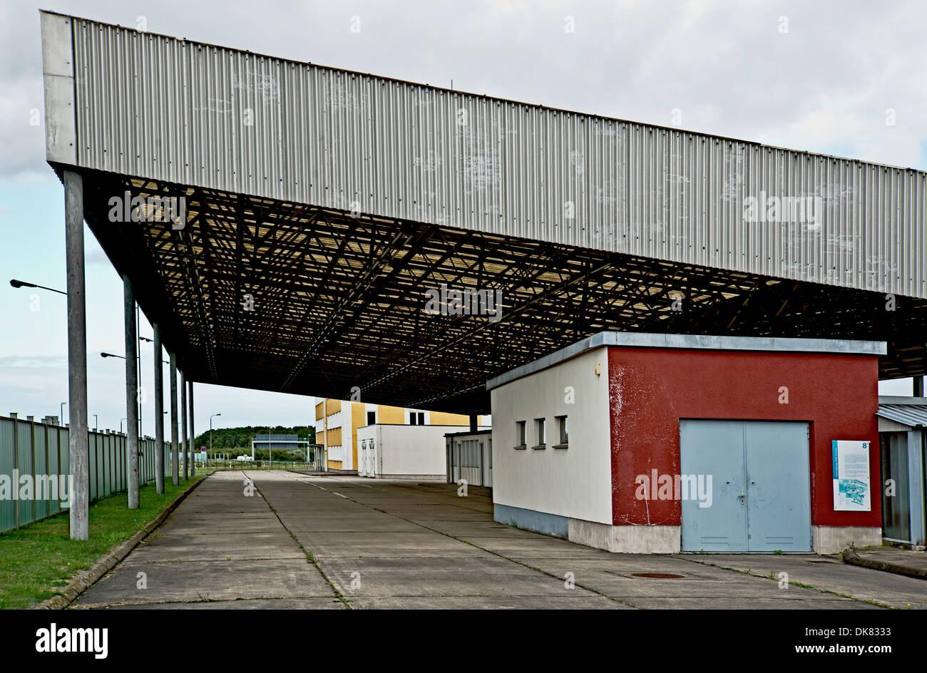 Former Border crossing point federal Republic Germany - DDR Marienborn - Stock Image