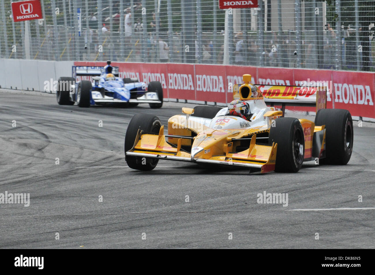 July 10, 2011 - Toronto, Ontario, Canada - Ryan Hunter-Reay driver of the #28 Team DHL/Circle K/Sun Drop Citrus Stock Photo