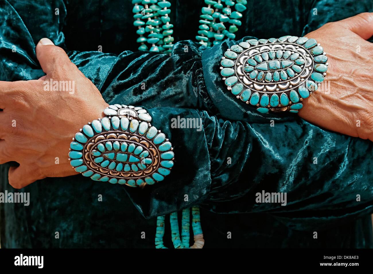 New mexico turquoise stock photos new mexico turquoise for Turquoise jewelry taos new mexico