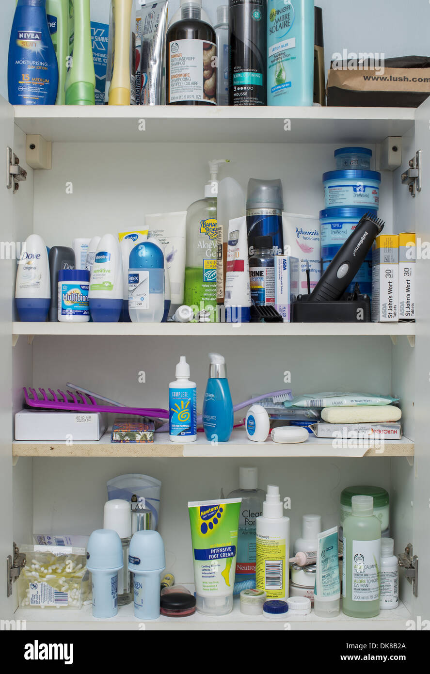 Cool Bathroom Cabinet Full Of Toiletry And Healthcare Products Interior Design Ideas Gentotthenellocom
