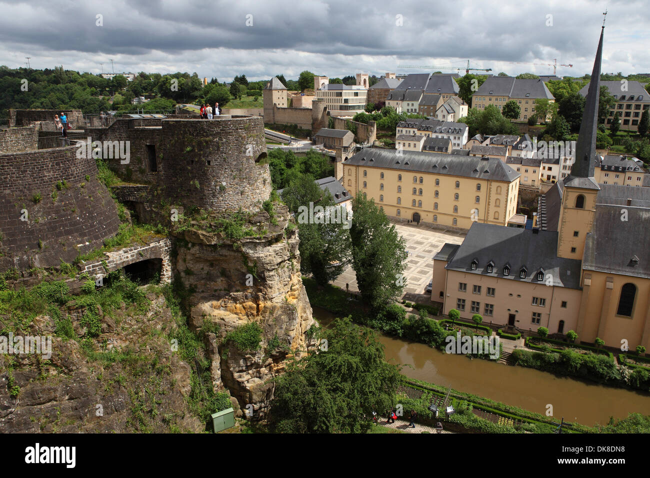The Bock Casemates in Luxembourg. - Stock Image