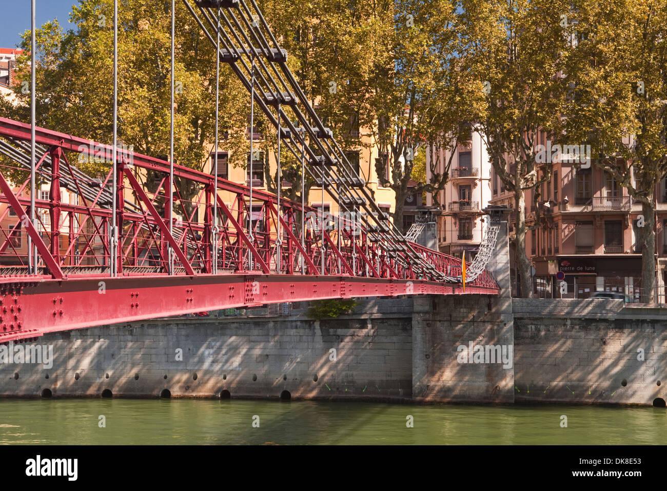 Passerelle Saint Vincent in the city of Lyon. - Stock Image