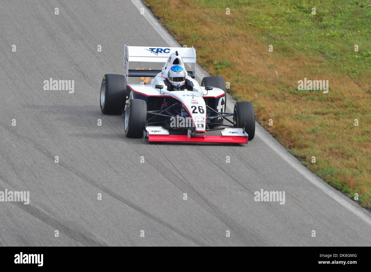 July 23, 2011 - Bowmanville, Ontario, Canada - Jerimy Daniel driving the #26 Star Mazda during morning practice Stock Photo