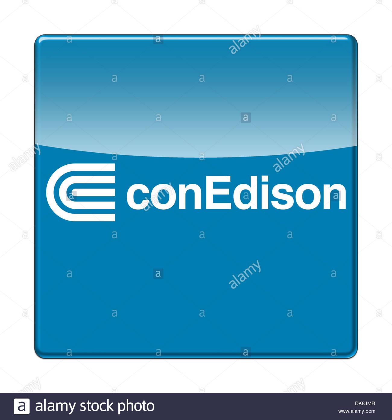 Consolidated Edison app icon logo flag - Stock Image