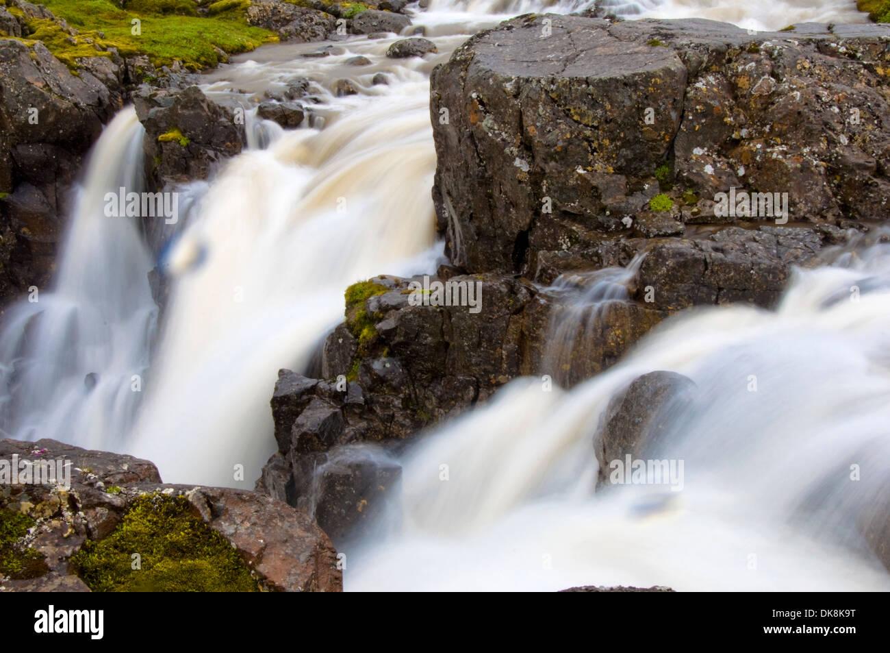 Waterfall near Seydisfjordur, Iceland - Stock Image