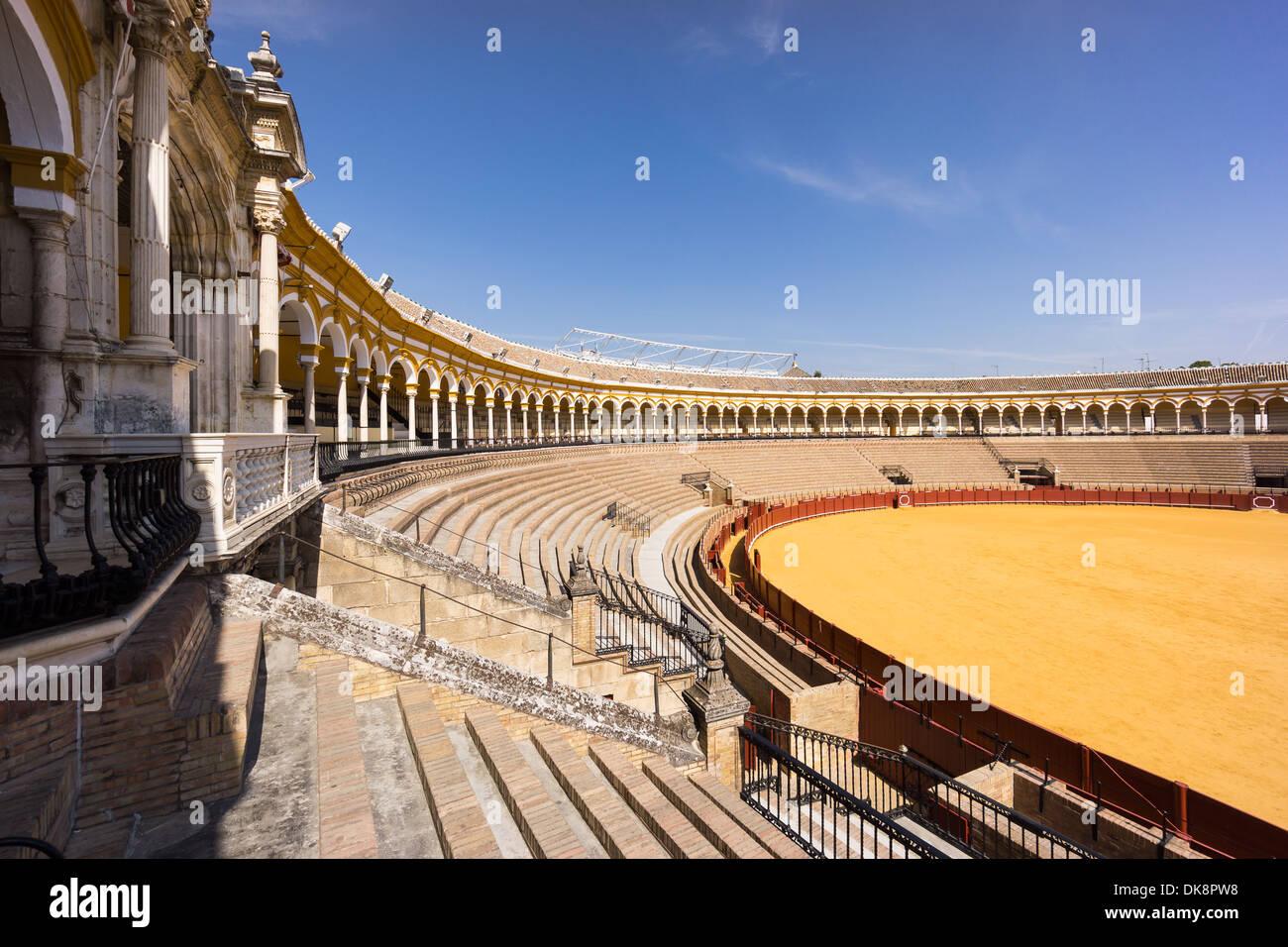 Plaza de Toros de Sevilla, La Real Maestranza de Caballería de Sevilla, Seville's bullring - Stock Image