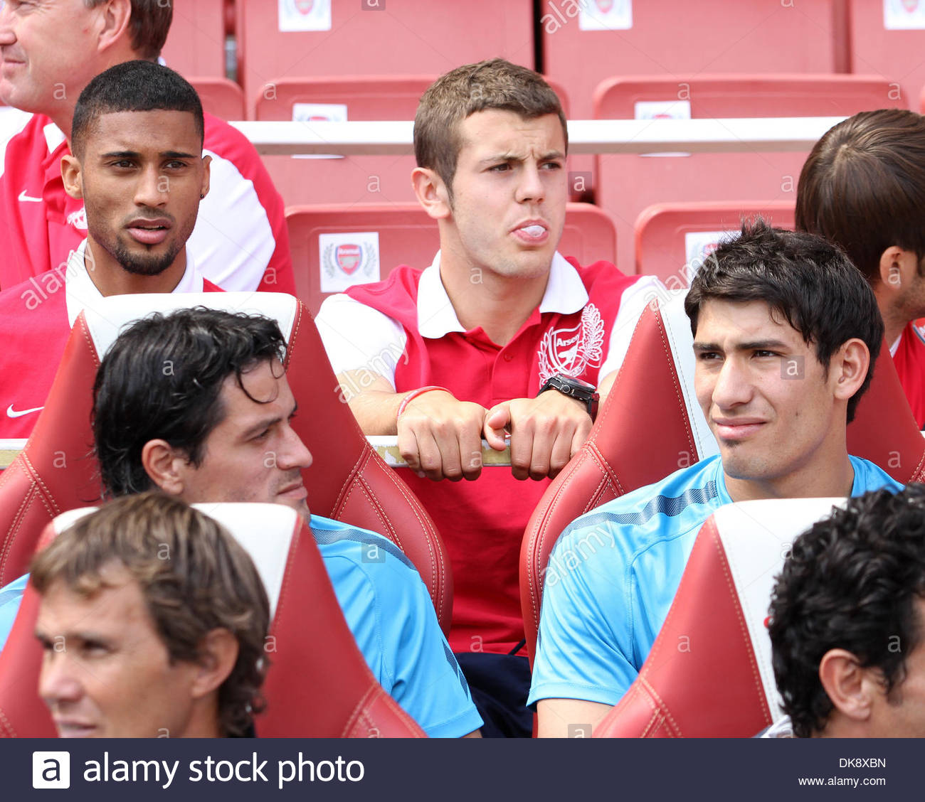 Arsenals Jack Wilshere watches on ..Emirates Cup..Arsenal v New York Red Bulls..31st July, 2011.(Credit Image: - Stock Image