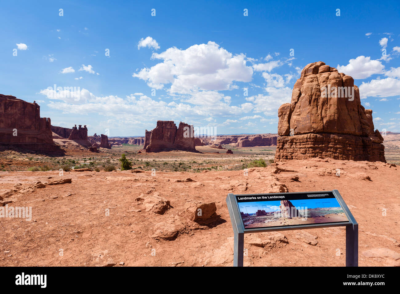 La Sal Mountains Viewpoint, Arches National Park, Utah, USA - Stock Image