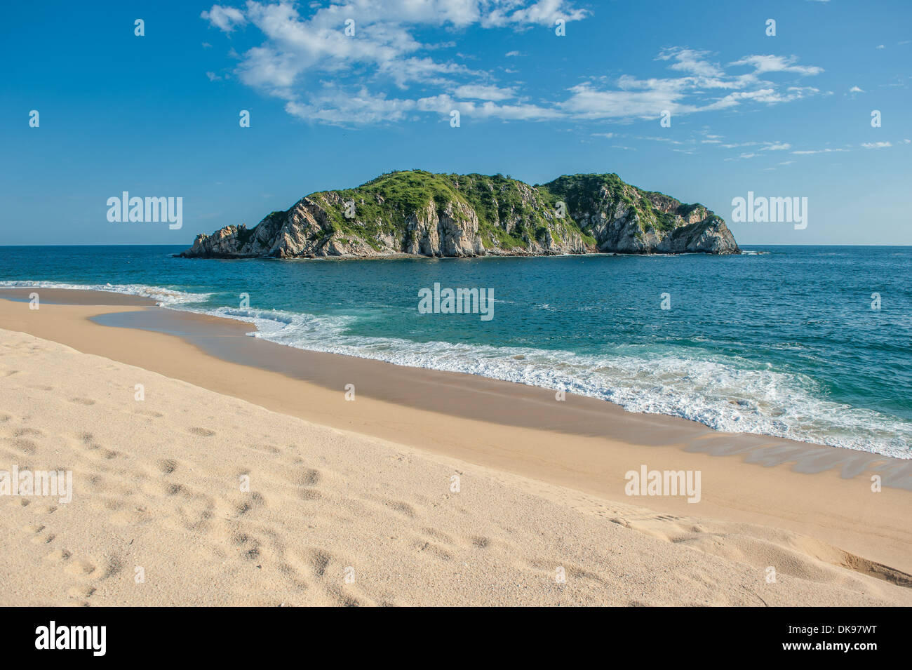 Cacaluta beach in Huatulko, Oaxaca, Mexico - Stock Image