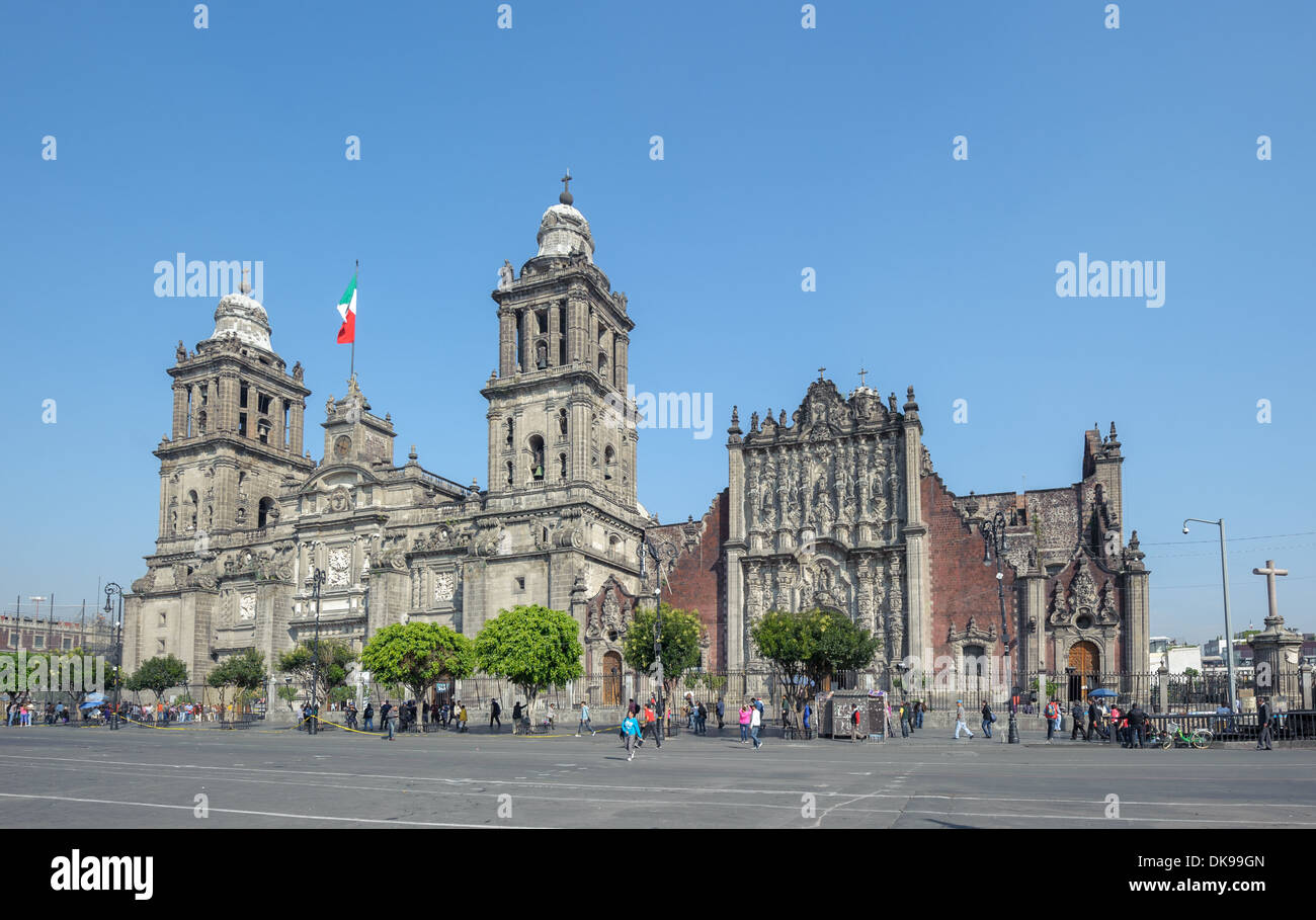 Metropolitan Cathedral of the Assumption of Mary of Mexico City - Stock Image