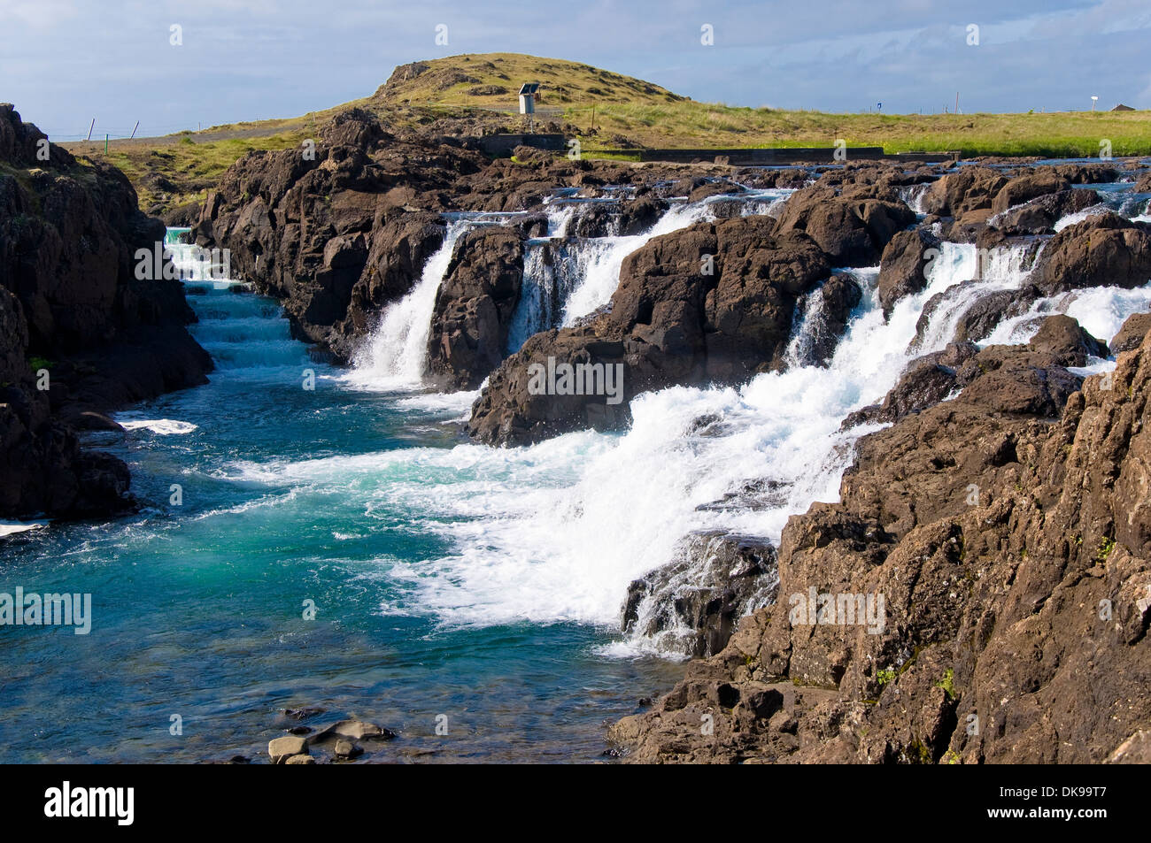 Waterfall, Borgarnes, Iceland Stock Photo