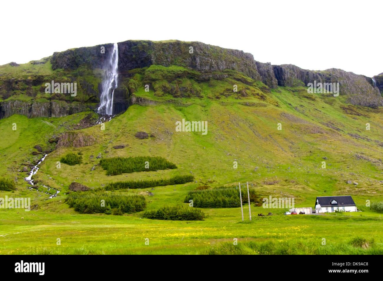 Waterfall, Budir, Snaefellsnes, Iceland - Stock Image