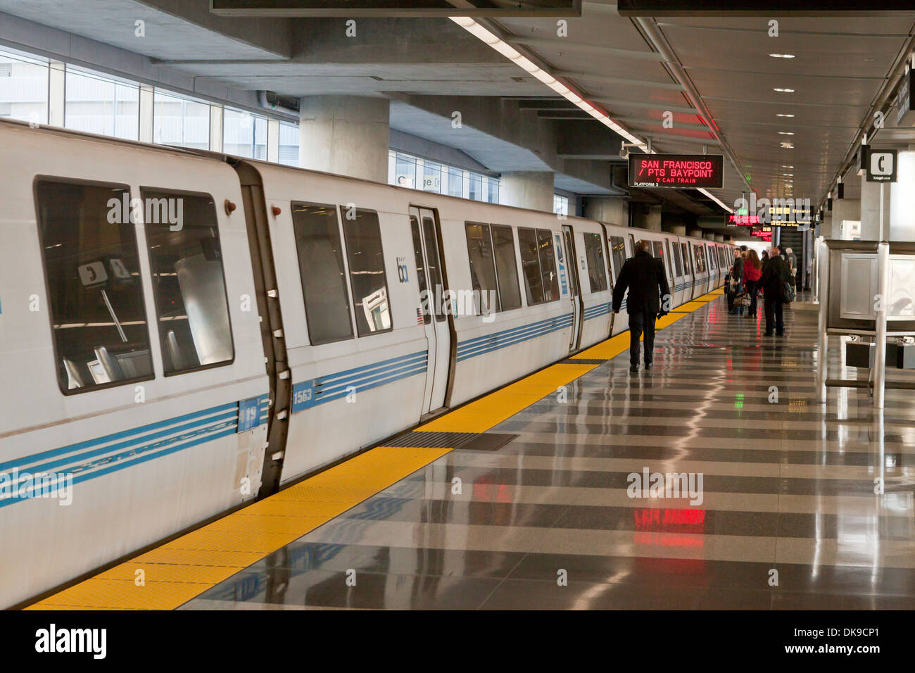 Bart train - San Francisco, California USA - Stock Image
