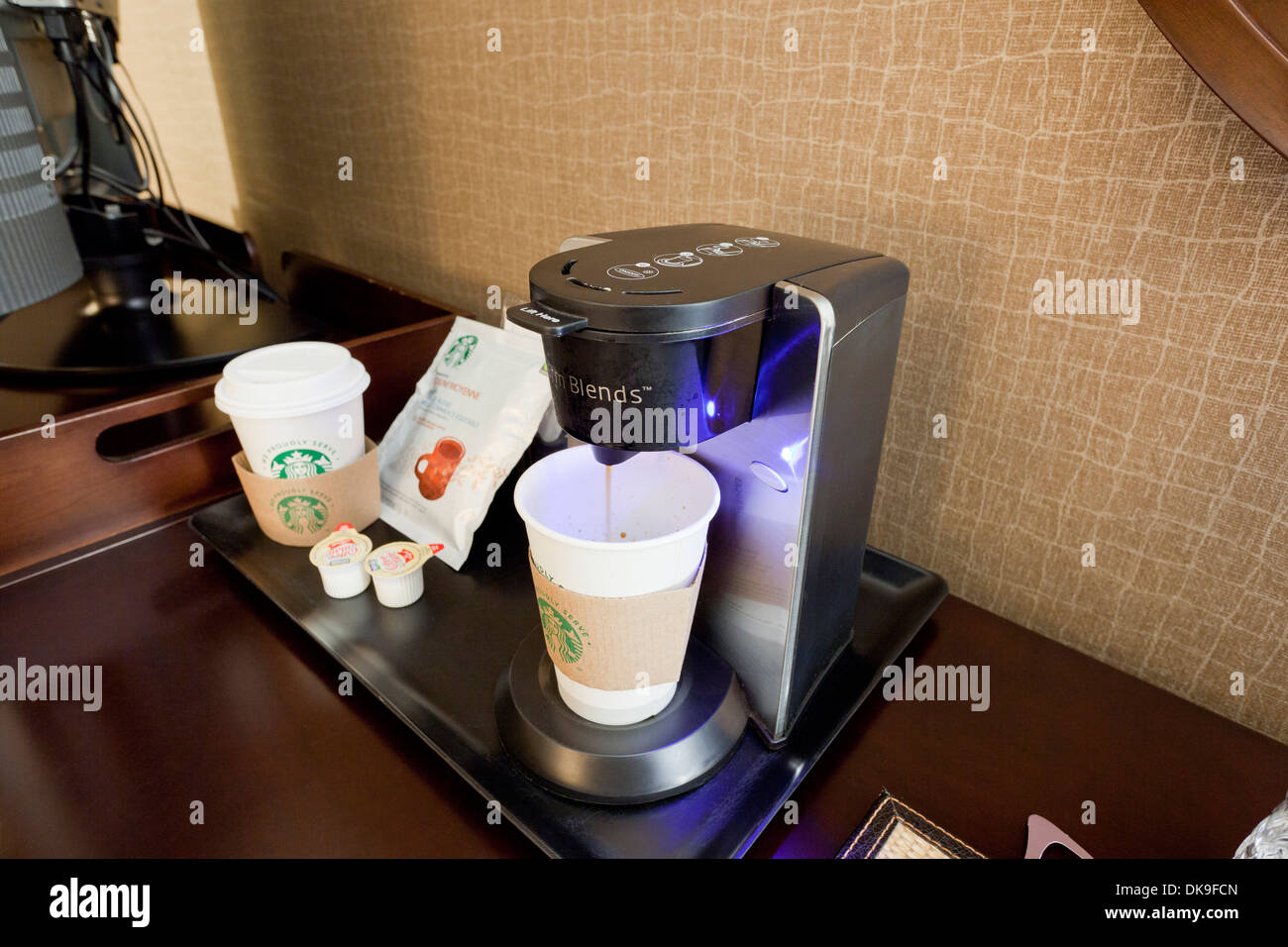 Hotel coffee maker - Stock Image