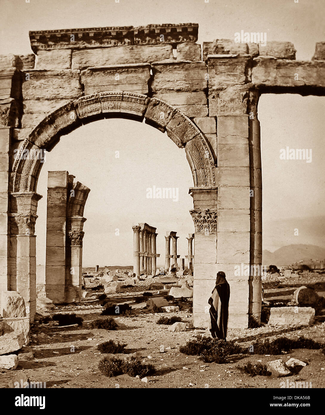 Syria Palmyra pre-1900 - Stock Image