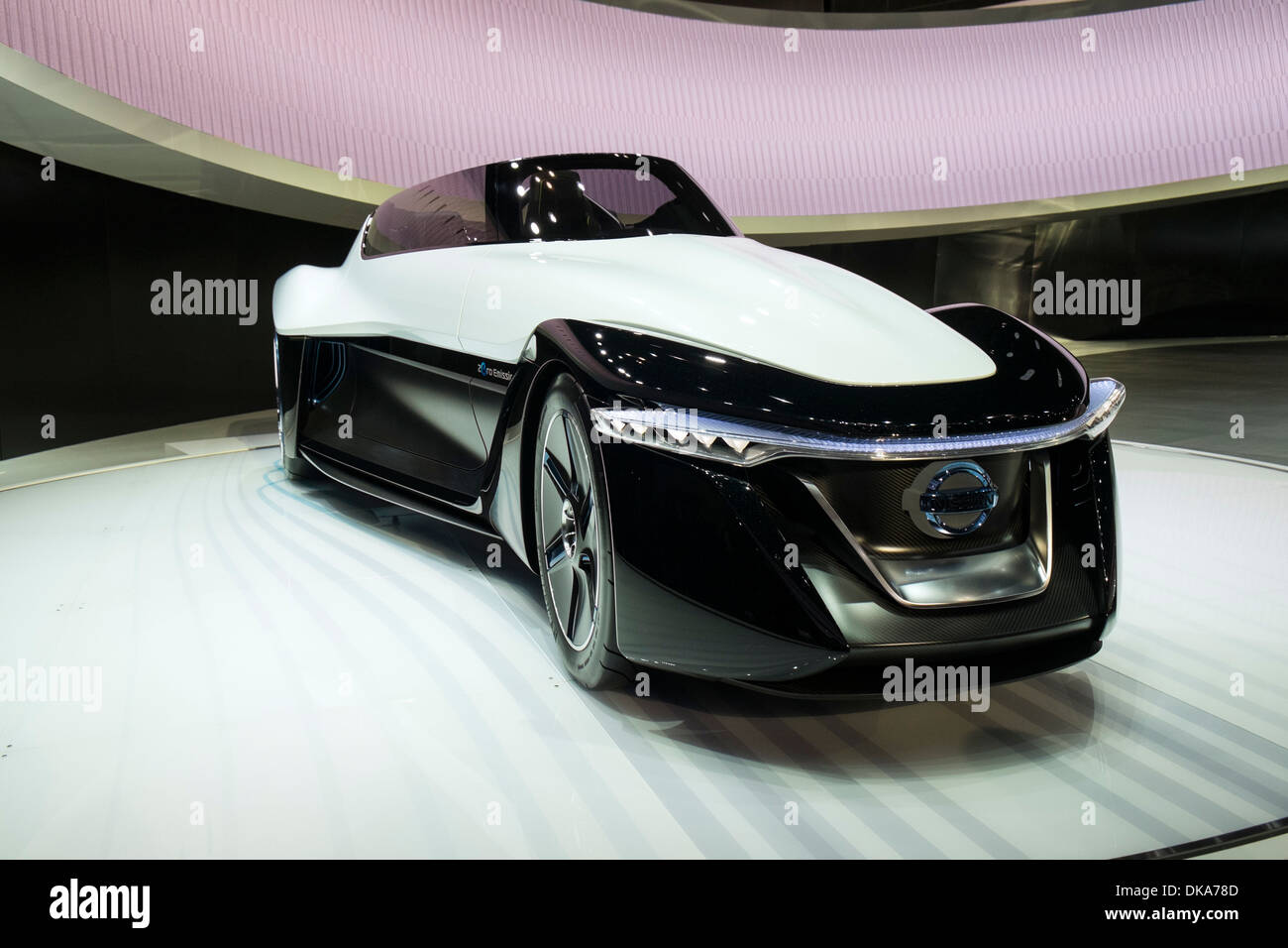Nissan Bladeglider concept electric car at Tokyo Motor Show 2013 in Japan - Stock Image