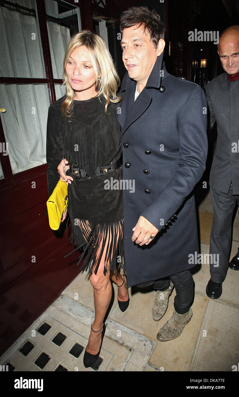 Kate Moss Leaving No 5 Hertford Street Private Club With Jamie Hince