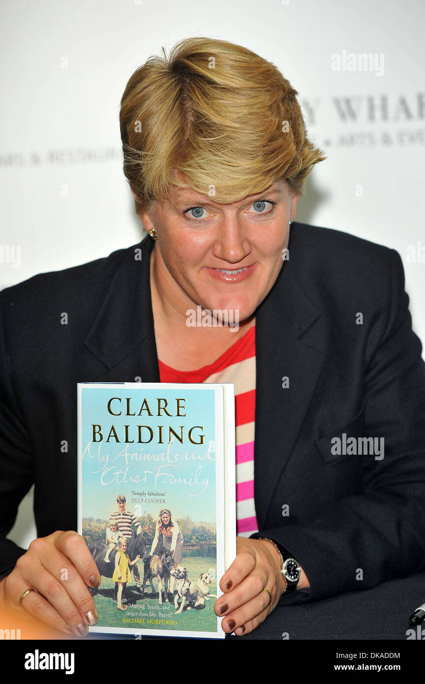 Clare Balding promotes and signs copies of her book 'My Animals and Other  Family' at Waterstones London England - 18.09.12