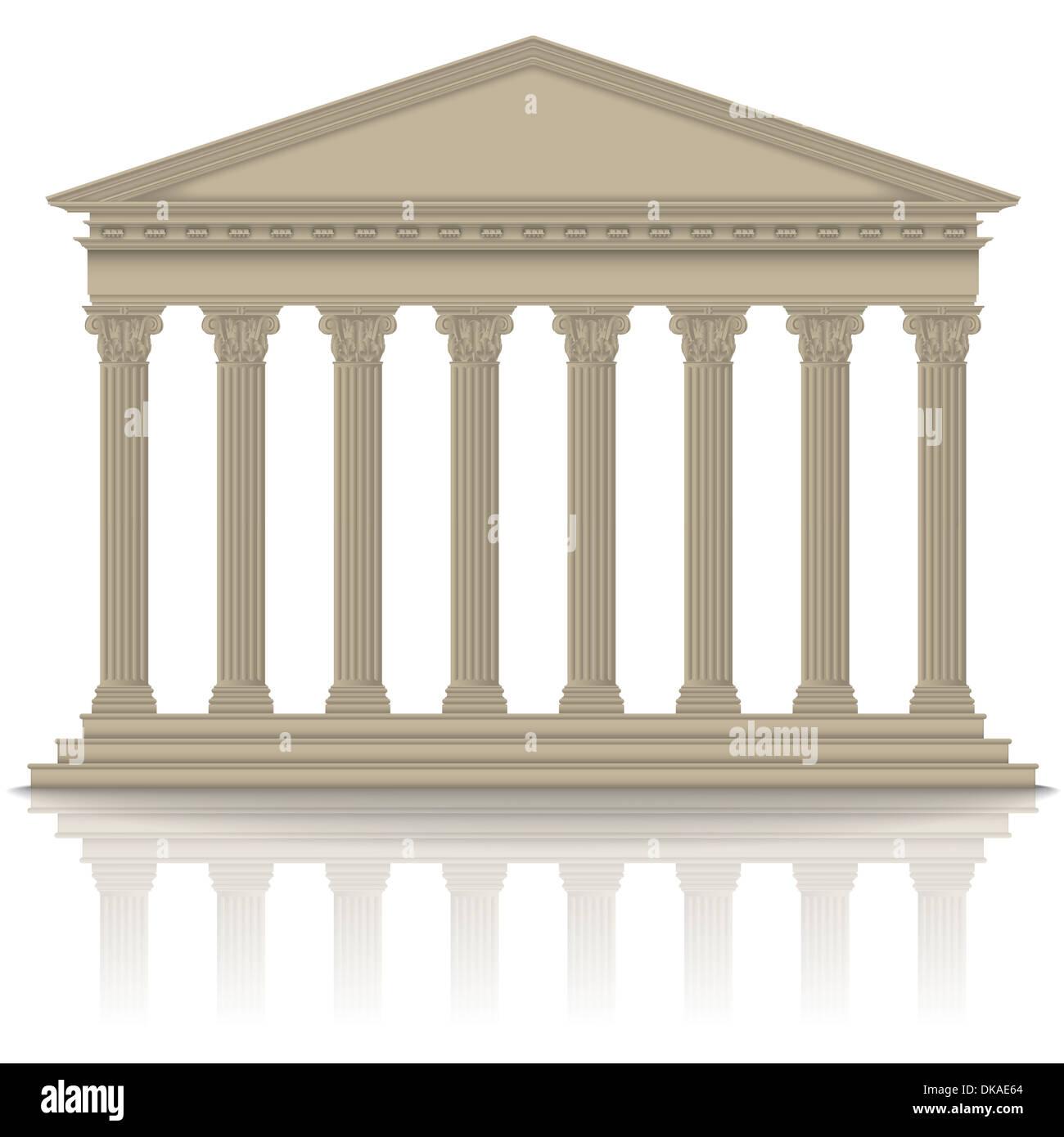 Roman/Greek pantheon - Stock Image