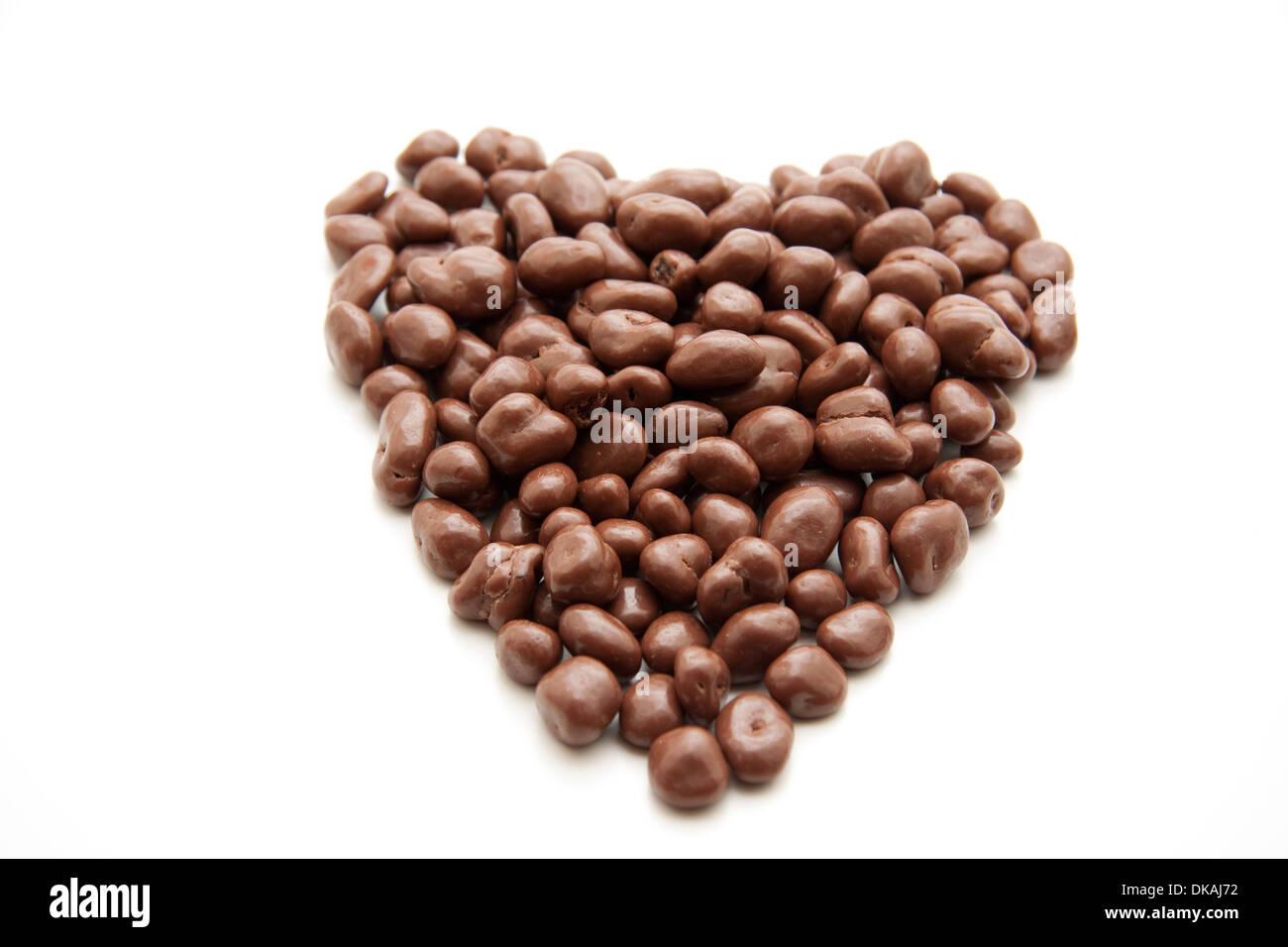 Chocolate raisins - Stock Image