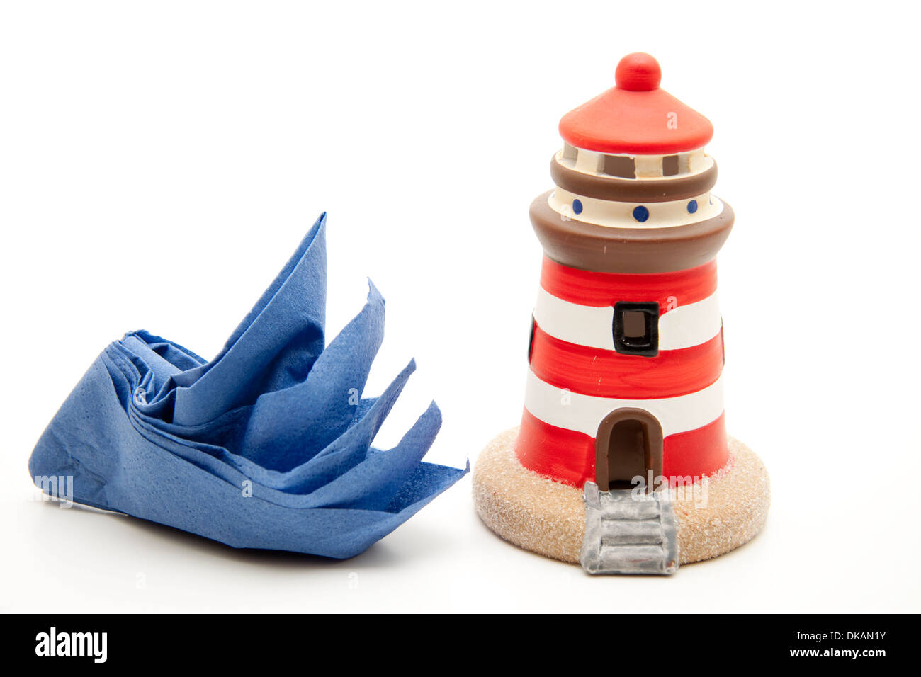 Lighthouse with napkin - Stock Image