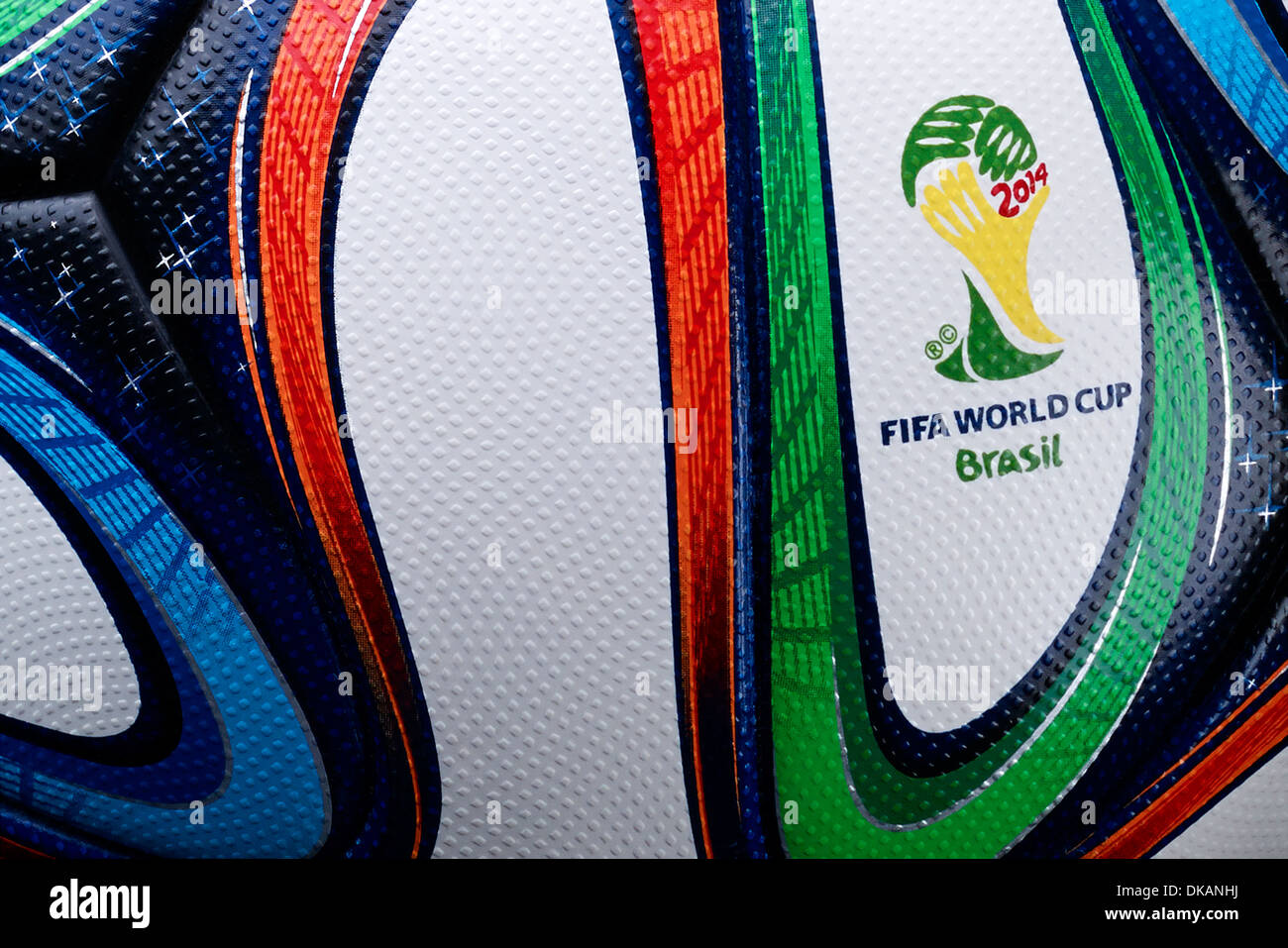 Adidas Brazuca, official match ball of the FIFA World Cup Brasil 2014 - Stock Image