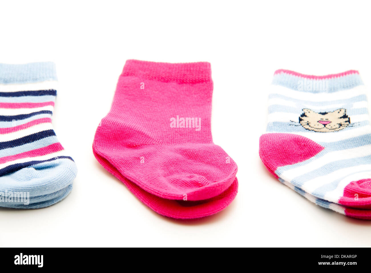 Baby socks - Stock Image