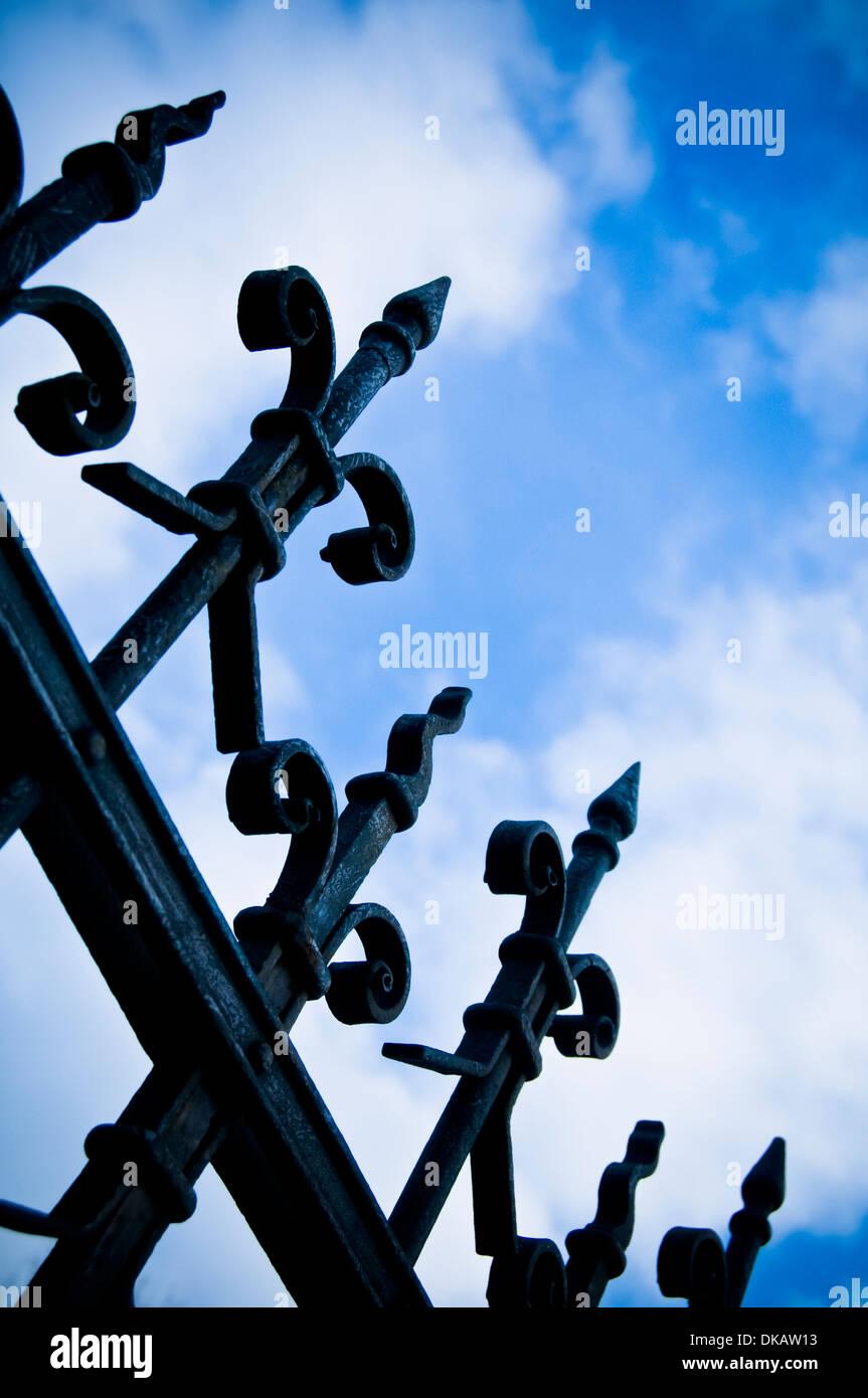 iron fence - Stock Image