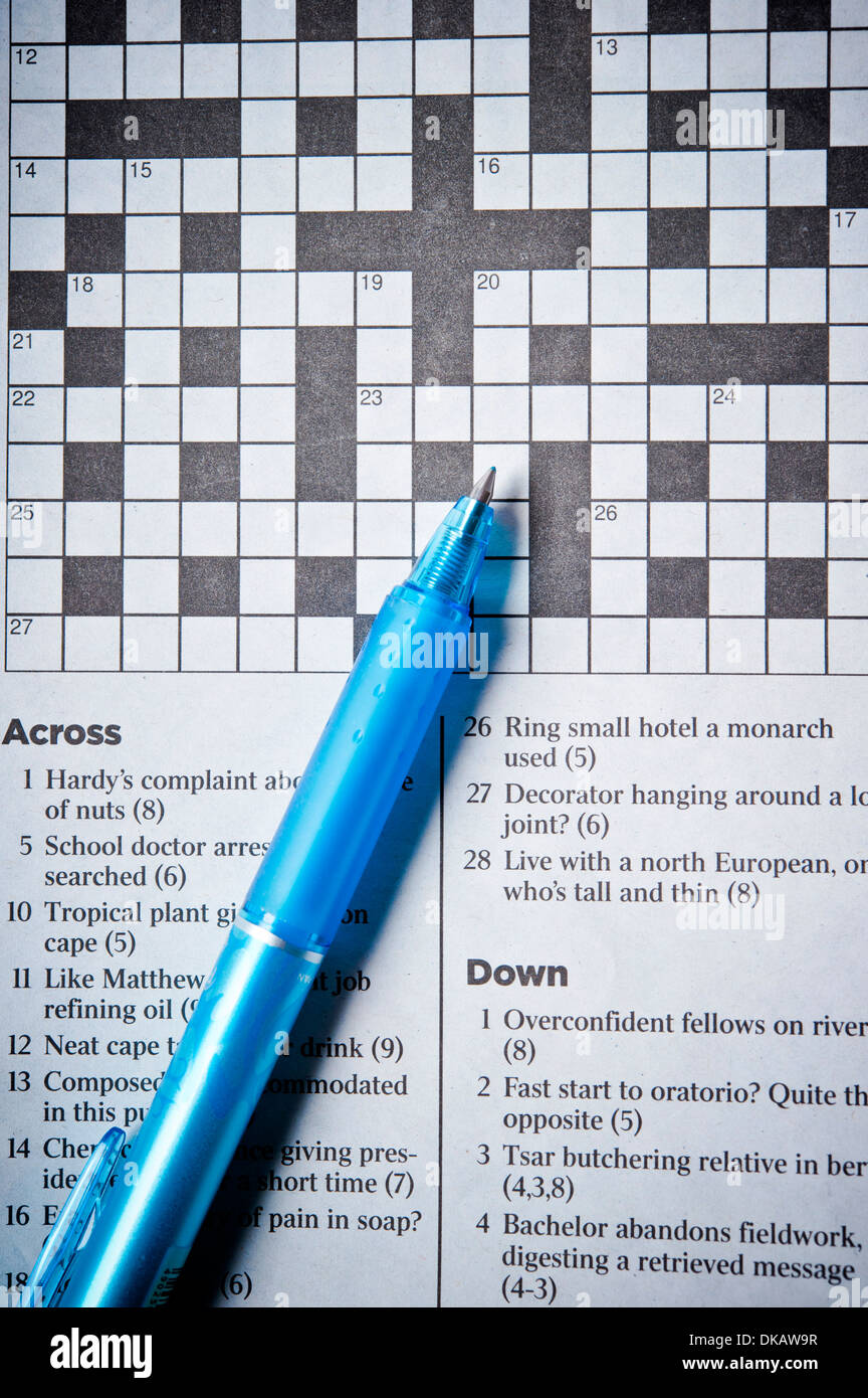 Crossword Solving Stock Photos & Crossword Solving Stock Images - Alamy
