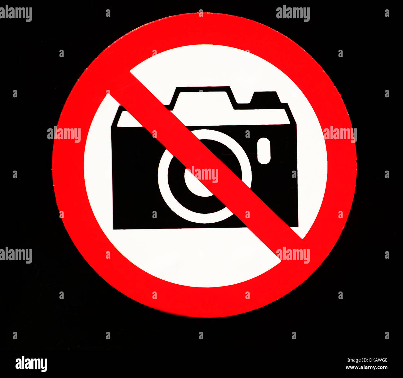 A Crossed Out Camera Is Pictured On Sticker In Berlin April 222012