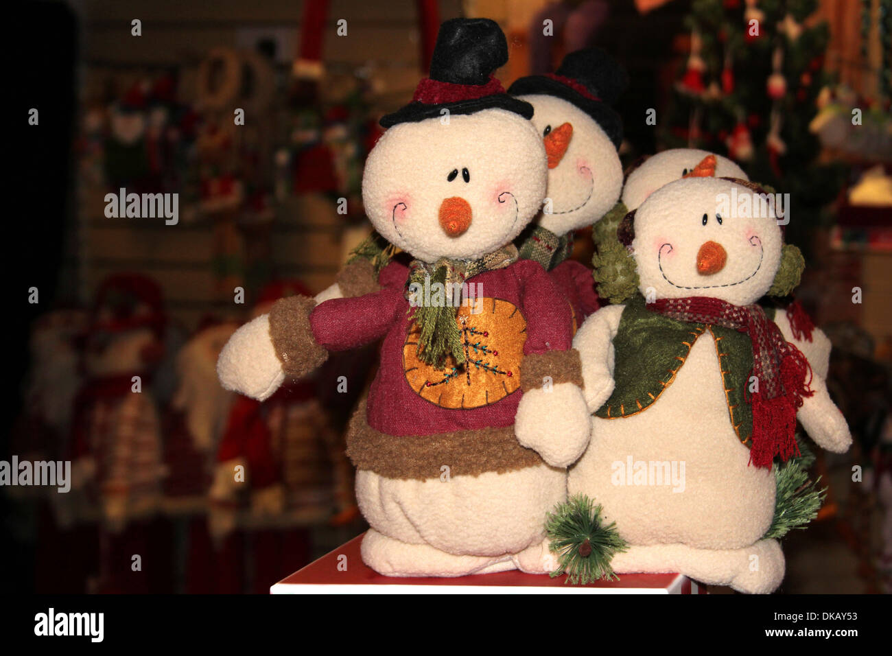 Snowmen Christmas Decorations - Stock Image