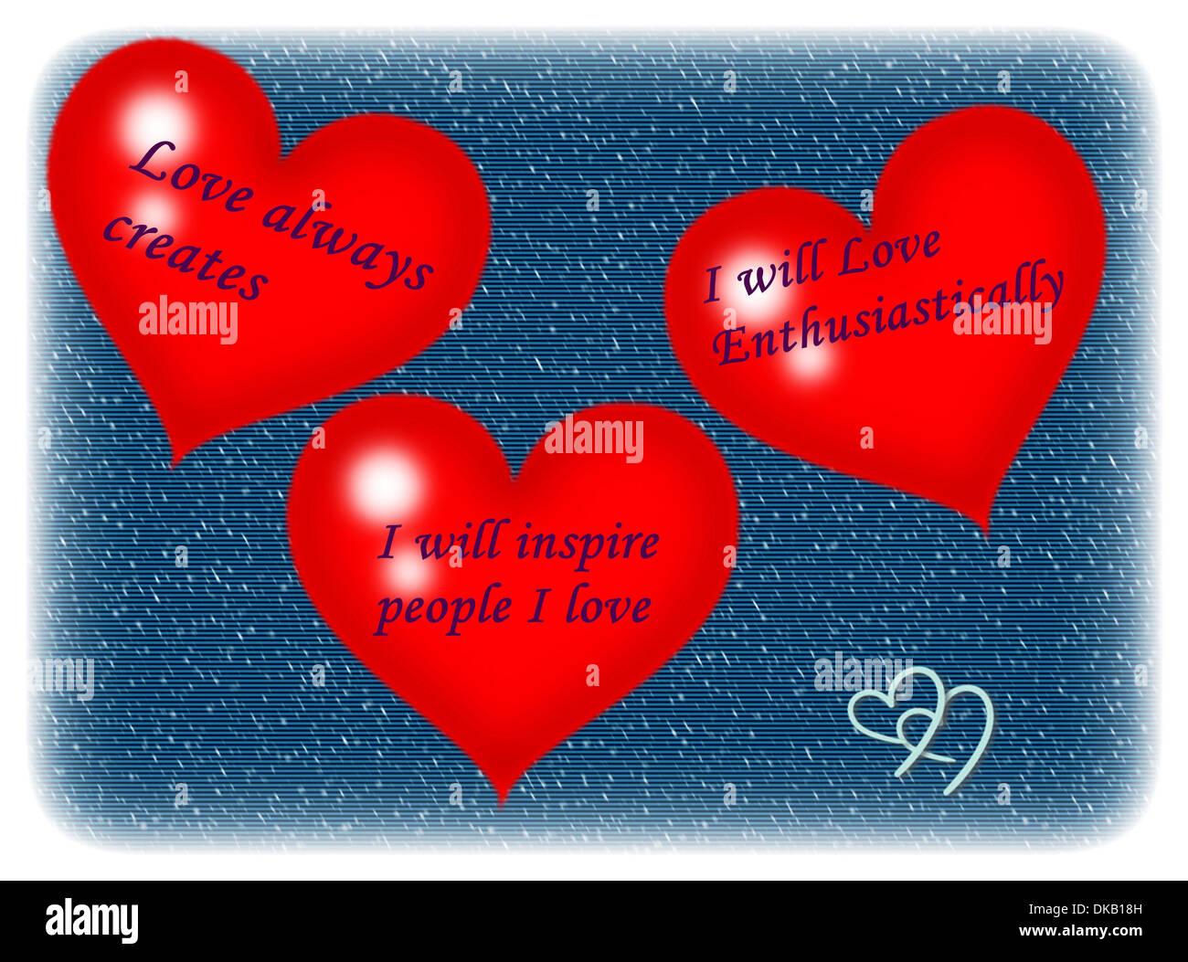 Three Hearts, India - Stock Image