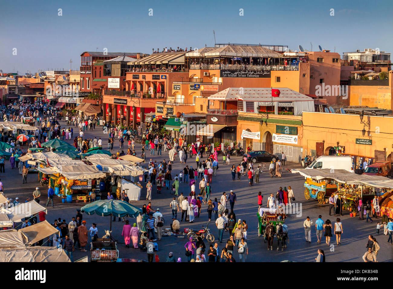 Jemaa el-Fna Square, Marrakech, Morocco - Stock Image